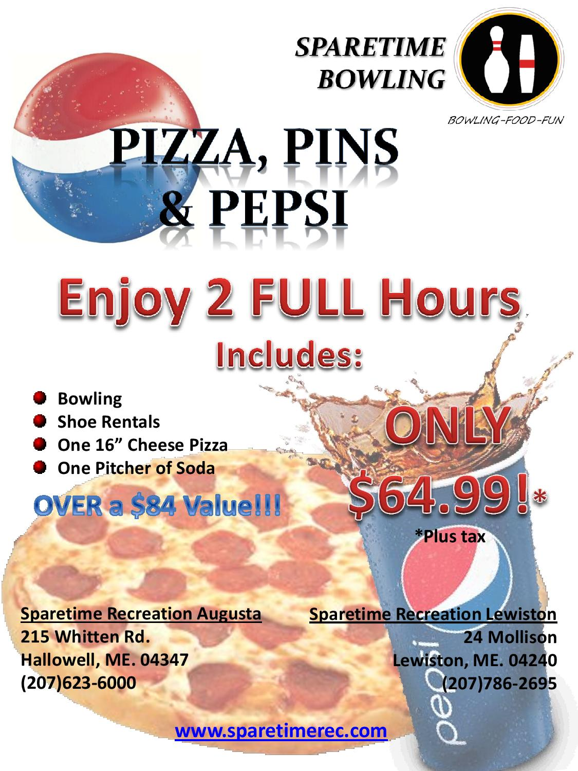 PizzaPinsPepsiLewiston